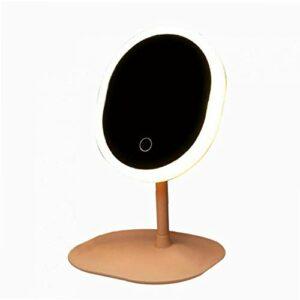 1pc Maquillage Miroir Led Miroir Avec Lumière Touch Control Design Miroir Cosmétique Pour La Maison Dortoir Lumières Décoratives