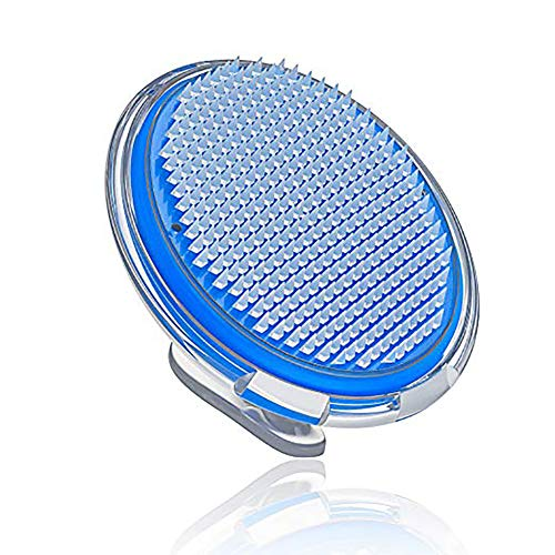 1pc poils incarnés et de traitement Bump rasoir Brosse exfoliante de massage du visage et du corps Cellulite Brosse pour hommes et femmes (bleu)