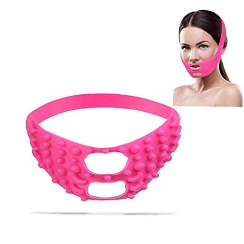 Accueil Silicone Visage Masque Lifting Visage Minceur Sangle Double Menton Massage Bandage V Ligne Masque Cou Compression Défroisser Outil De Beauté (rose)