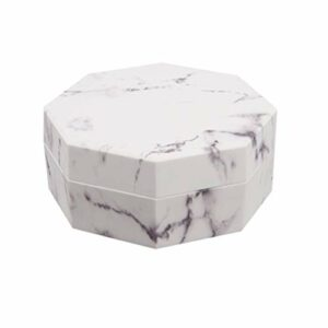 Beaupretty Boîtes de Poudre en Vrac Cas Portatifs en Marbre Maquillage Poudre Cas Supports de Conteneurs de Poudre avec Bouffées pour Voyage