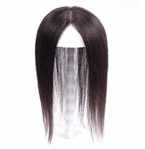 Beauté soins personnels perruque cheveux humains fins pour les femmes avec des cheveux clairsemés4 'x 4,7' mono avec pince en polyuréthane sur couronne Topper Wigelt coiffeusebrun foncé 12