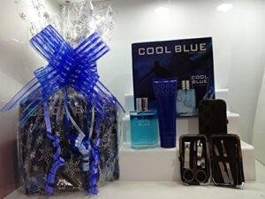 Blue pour homme Intense pour homme Eau de toilette Parfum Lot d'énergie et nasal épilation Cadeau kit, 2pièces