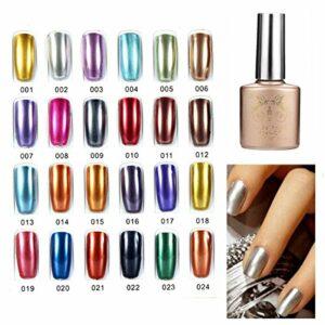 Bluelover 24 Couleurs Soak Off Metal Color Uv Gel Vernis À Ongles -020