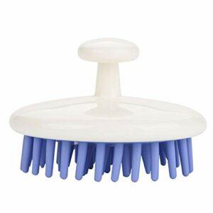 Brosse de shampooing de Massage du cuir chevelu Anti-dérapant Silicone peigne de massage pour cheveux secs et humides tête manuelle masseur de cuir chevelu pour la douche(Violet)