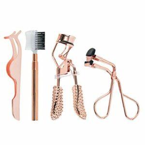 Cil Tool Set Sourcils Parage Set aide cil curleur cil en acier inoxydable Brucelles Brosse pour divers maquillage Eye Shape Outil 4PCS