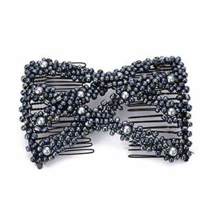 Coomir Épingle à Cheveux, Cheveux Magiques beauté décoration Peigne Perle Extensible perlé épingle à Cheveux Arc Double étirement Accessoires de Cheveux pour Les Femmes