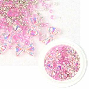 CZYU 1box AB Crystal Limes à Ongles Strass Mixte coloré Bow Gem 3D Glitter Nail Art Beauté Décoration (Color : HDJ 4)