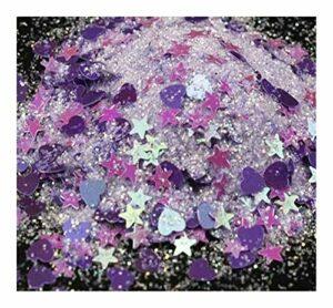 CZYU 50 / 10grams Glitter Glitter Grand Holographic étoile Visage Corps Cheveux Yeux Maquillage Glitter |Lâche Iridescent cosmétique étoiles 3 mm Glitter (Color : 2 50g)