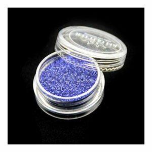CZYU Nouveau Metallic Couleurs Nail Glitters Poudre poussière Yeux Monochrome Ombre for Les Femmes cosmétiques Maquillage Beauté du Corps Face Party Décoration (Color : Royal Blue)