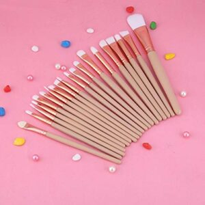 DAUERHAFT Brosse à lèvres Brosses à Sourcils Souples pour Femme pour la Maison(Coffee Color)