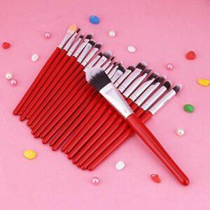 DAUERHAFT Brosse à lèvres Brosses à Sourcils Souples pour Femme pour la Maison(Red)