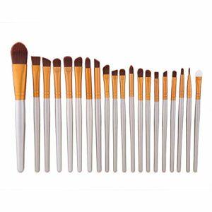 DAUERHAFT Brosse à lèvres Brosses à Sourcils Souples pour Femme pour la Maison(Silver)