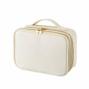 DFGH Forfait d'admission cosmétiques boîte de tri Toile Portable Artiste Maquillage Double Maquillage dédié Kit beauté (Color : White, Size : 27 * 11.5 * 19cm)