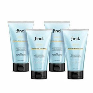 FIND – Nettoyant exfoliant visage pour peau normale et grasse ( 4 x 150 ml )