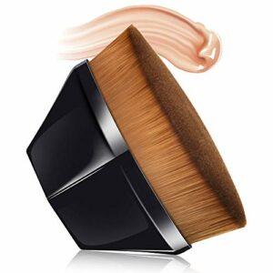 Foundation Brush Pinceau De Maquillage De Base En Forme De Pétale, Brosse à Poils Doux, MS.DEAR Avec étui De Rangement, Adaptée Aux Cosmétiques Liquides Ou En Poudre Mélangés à La Crème (Noir)