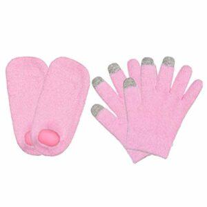 Gants de spa pour écran tactile, chaussettes et gants en gel hydratant, pour traiter les peaux sèches et craquelées, pour traitement de réparation, soin de la peau, gel pour les mains et les pieds.