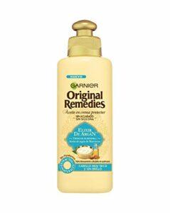Garnier Original Remedies Elixir d'Argan Huile en crème protectrice sans rinçage sans silicone pour cheveux très secs et sans brillance 200 ml