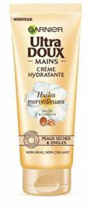 Garnier Ultra Doux Crème pour Mains Huile Merveilleuse Peaux Sèches 75 ml – Lot de 3