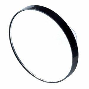 grand Miroir grossissant noir à ventouses X3 Diam 14cm voyage salle de bain