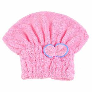 Haarturban Serviette de bain pour cheveux doux et séchage rapide Bleu rose