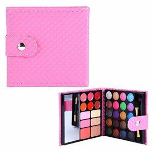Haibuy 32 couleurs maquillage ombre à paupières Palette Cosmetic,Eyeshadow Blush Brillant à Lèvres Poudre,Palette de maquillage longue durée imperméable à l'eau