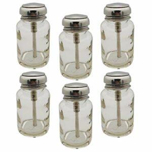 Harilla 6pcs Vernis à Ongles Dissolvant de Maquillage Pompe Distributeur Liquide Push Down Bouteille