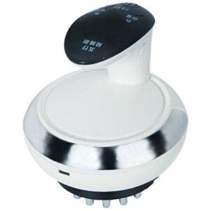 HEALLILY Électrique Gua Sha Mise Au Rebut Masseur Machine Électrique Cellulite Masseur Exfoliant Gommage Brosse pour Une Peau Plus Lisse (Blanc)