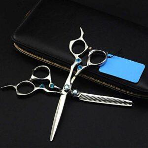 HJTLK Ciseaux de Coiffure, Set Ciseaux de Coiffeur Kit de Coiffure Cheveux Ciseaux de Coiffure Professionnels Femmes Beauté Bangs ToothCut 6 Pouces