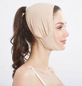 HYLH Facial Minceur Lifting Beauté Forme V Face Linface Minceur Masque, Beauté Cou Masque Visage Lift Up Et RéDuire Double Bandage Menton