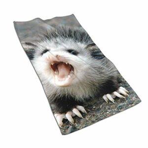 IUBBKI Baby Possum Serviettes De Visage en Microfibre Ultra Doux Gants De Toilette pour Le Visage pour Le Bain 15.7 Pouces x 27.5 Pouces