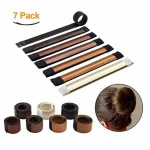 JiaHao Beauté Donut Chignon Maker Coiffure Chignon Coiffure Mode Disque Cheveux Accessoire Bande de Cheveux DIY Outil de coiffure pour Femmes Filles 7 Couleurs