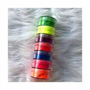 JINSUO Xiaobingjiaju 7 Couleurs Mix/Set Neon Ombres à paupières Pigment Matte Spangle Ongles Poudre Make Up Shimmer Brillante Ombre à paupières (Color : 7 Colors)