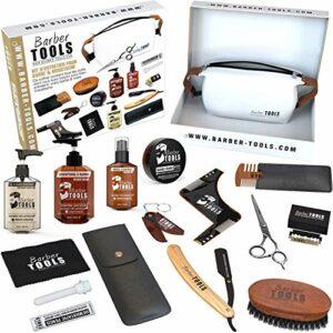 Kit/Set/Coffret d'entretien et de soin pour barbe avec Soin de barbier | Cosmetique Made in France ✮ BARBER TOOLS ✮