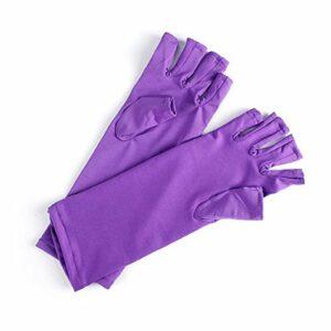 Leyee 1 paire de gants anti-UV pour manucure – Protection des mains contre les rayons UV – Pour usage domestique – Outil pratique et sûr – Outil à ongles – Blanc