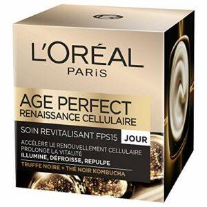 L'Oréal Paris – Age Perfect – Soin Revitalisant et Anti-Âge Jour – Pour Peaux Matures – Renaissance Cellulaire – 50 ml