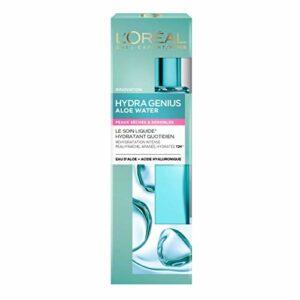 L'Oréal Paris – Soin Liquide Hydratant Visage – Peaux Sèches et Sensibles – Hydra Genius – 70 ml