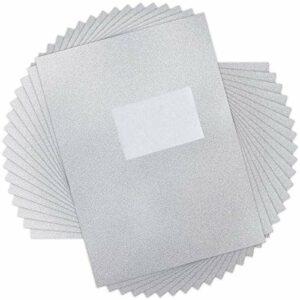 Lot de 100 feuilles de papier d'aluminium pour ongles.