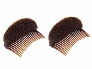 Lot de 2peignes à cheveux avec coussinet pour base de chignon