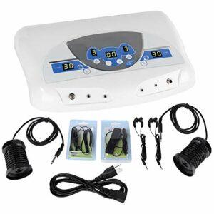 Machine ionique de bain de pied de désintoxication, machine de massage de nettoyage de spa de pied de musique de tableau de désintoxication du corps pour l'utilisation de 2 personnes(EU)