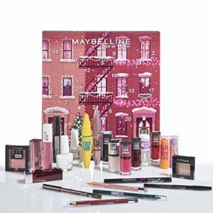 Maybelline New-York – Calendrier de l'Avent 2020 – Coffret de 24 Produits de Maquillage