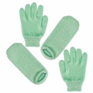 Minkissy Lot de 2 paires de chaussettes hydratantes en gel pour soin de la peau Spa Beauté Sèche Mains Ekzem Dermatite Psoriasis