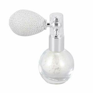 Minkissy Poudre de Paillettes Pulvérisation Flacon de Parfum Brillant Poudre Pulvérisation Contour Maquillage pour La Beauté Surligneur Miroitement Cosmétique Perle Blanc