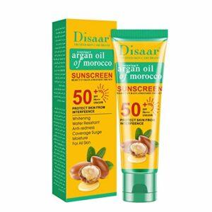 Mississ Crème Solaire SPF 50 Professionnelle, crème blanchissante Portable Anti-âge hydratante Anti-âge, Soins de la Peau imperméable et résistant à la Transpiration