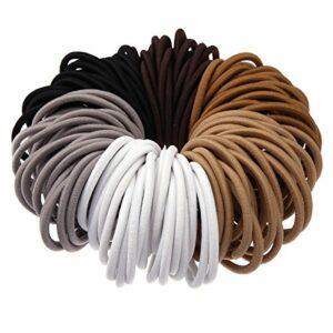 Munax sans Queue de cheval en métal Supports éclairés Beauté No-damage élastiques cheveux cravates, 2mm, 3mm, 4mm