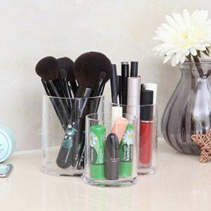 #NA Lot de 2 distributeurs de cotons-tiges transparents pour cotons-tiges, boules de coton, embouts Q-Tips, pinceaux de maquillage