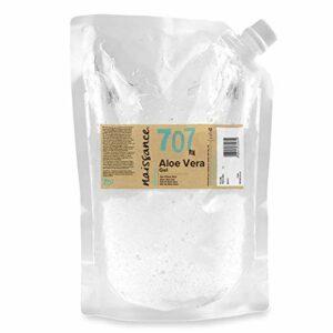 Naissance Gel d'Aloe Vera (n° 707) – 1kg Sachet recharge – vegan, non testé sur les animaux – apaisant et rafraîchissant pour la peau