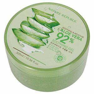 Nature Republic Aloe Vera 92% Soothing Gel apaisant Soin de Jour Soin de la peau Visage Humidité crèmes 300ml