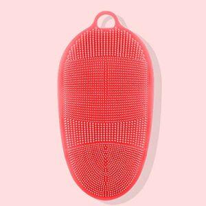 NYKK Gants de Toilette exfoliants Les Hommes et Les Femmes Fortes Retour Gants de Boue frotter Silicone Bain Brosse de Massage Serviette exfoliante pour Le Corps (Color : A)