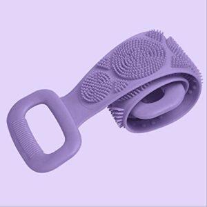 NYKK Gants de Toilette exfoliants Silicone récurage Serviette for Les Hommes et Les Femmes à Dos et Rub Boue Serviette exfoliante pour Le Corps (Color : Purple, Taille : 1 Pack)