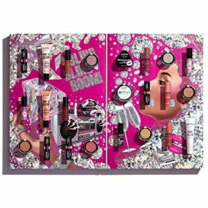 NYX Professional Makeup – Calendrier de l'Avent Maquillage – Diamonds & Ice Please, 24 Produits, Sélection de Maquillage Yeux, Lèvres et Visage